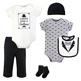 "Hudson Baby® 6-Piece ""Ladies Love A Gentleman"" Layette Set"