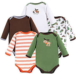 Luvable Friends® Size 6-9M 5-Pack Long Sleeve Moose Bodysuits