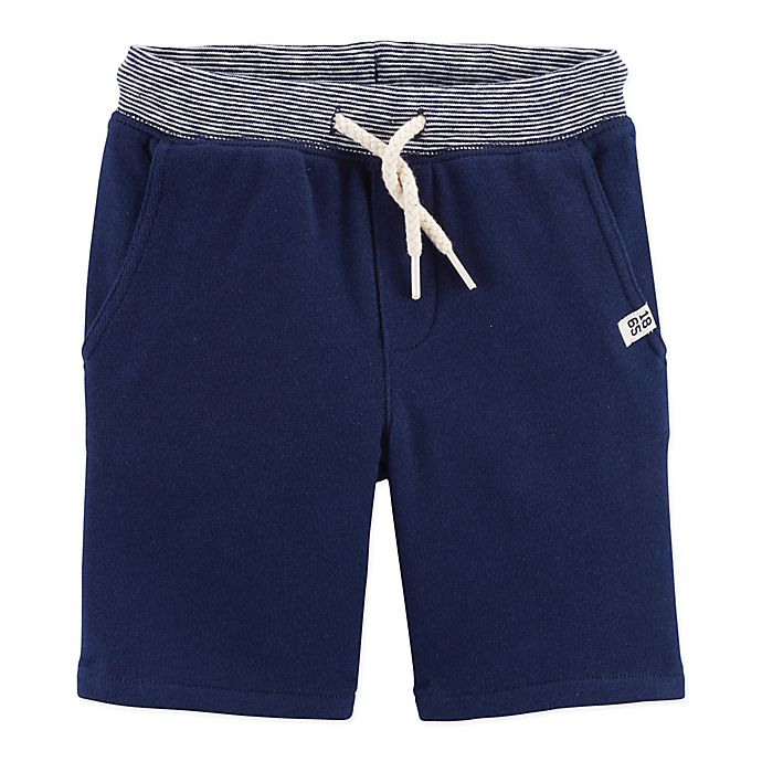 Alternate image 1 for carter's® Size 2T Pull-On French Terry Short in Navy
