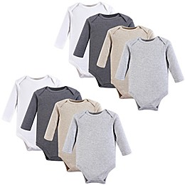 Hudson Baby® 8-Pack Long Sleeve Solid Bodysuits