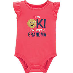 "carter's® ""It's OK! I'm With Grandma"" Bodysuit in Red"