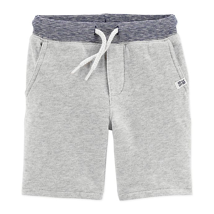 Alternate image 1 for carter's® Pull-On French Terry Short in Heather Grey