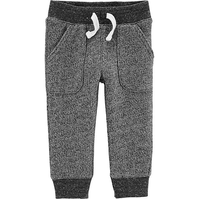 Alternate image 1 for carter's® Marled Yarn Pull-On Pant in Black