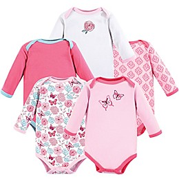 Luvable Friends® 5-Piece Butterfly Long Sleeve Bodysuits