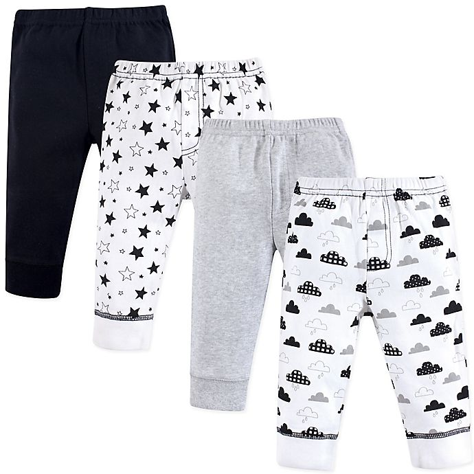 Alternate image 1 for Hudson Baby® 4-Pack Moon and Back Tapered Ankle Pants