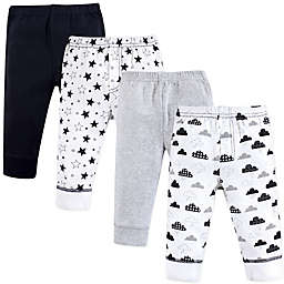 Hudson Baby® Size 6-9M 4-Pack Moon and Back Tapered Ankle Pants
