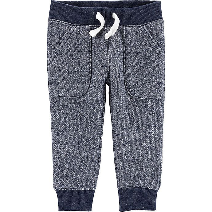Alternate image 1 for carter's® Marled Yarn Pull-On Pant in Navy