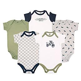 Luvable Friends® 5-Pack Dirt Bike Bodysuits
