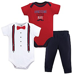 Hudson Baby® 3-Piece Handsome Man Bodysuit and Pants Set
