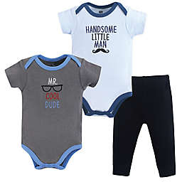 Hudson Baby® 3-Piece Mr. Cool Dude Bodysuit and Pant Set