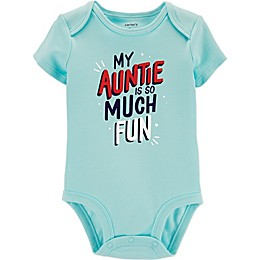 carter's® Fun Auntie Bodysuit in Light Blue