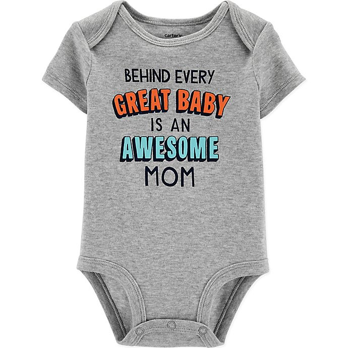 Alternate image 1 for carter's® Size 12M Great Kid Bodysuit in Heather Grey
