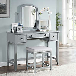 Modern Marketing Crosley Vista Vanity Set With Stool
