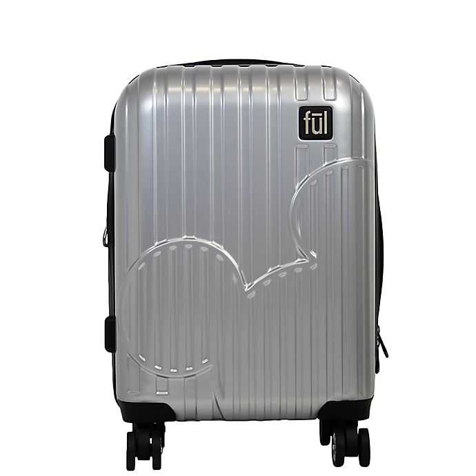 Alternate image 1 for ful® Disney® Molded Mickey Hardside Expandable Spinner Carry-On in Silver