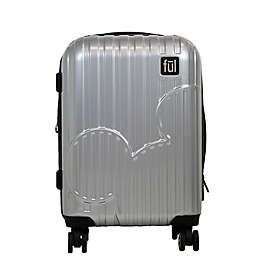 ful® Disney® Molded Mickey Hardside Expandable Spinner Carry-On in Silver