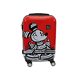 ful® Disney® Striped Mickey Hardside Expandable Spinner Carry-On in Red