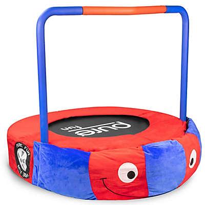 Pure Fun® 36-inch Race Car Plush Jumper Kids Trampoline with Handrail in Red