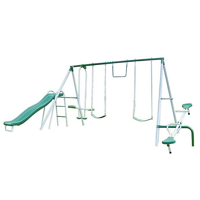 Alternate image 1 for Sportspower Live Oak Metal Swing and Slide Set