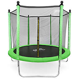 Pure Fun® Dura-Bounce 8-Foot Trampoline with Enclosure in Lime
