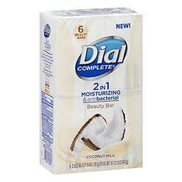 Dial® Complete® 6-Count 2-in-1 Moisturizing Antibacterial Coconut Milk Beauty Bar