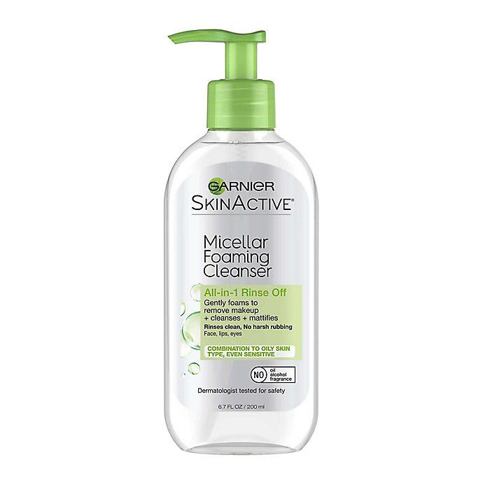 Alternate image 1 for Garnier SkinActive® 6.7 fl. oz. Micellar Foaming Face Wash for Oily Skin