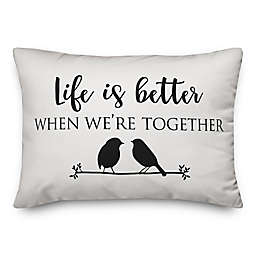 Designs Direct Better Together Oblong Throw Pillow in Black