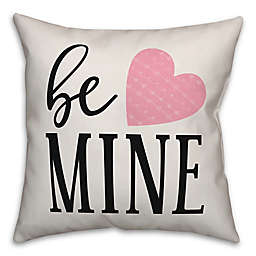 Designs Direct Be Mine Square Throw Pillow in White