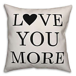 Designs Direct Love You More Square Throw Pillow in Black