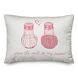 Designs Direct Salt To My Pepper Oblong Throw Pillow in Pink