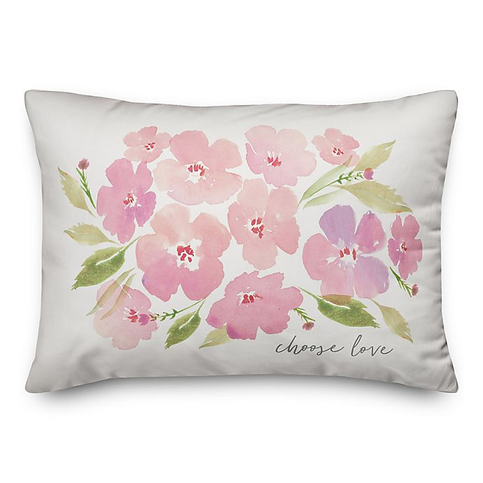 Alternate image 1 for Designs Direct Choose Love Oblong Throw Pillow in Pink
