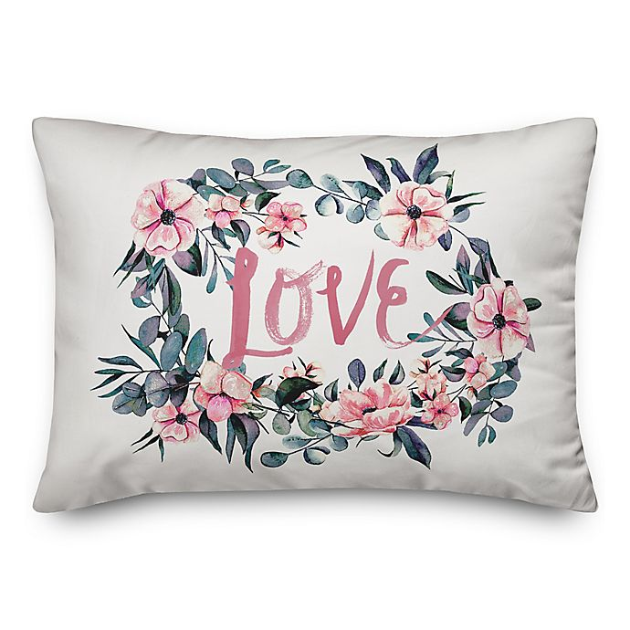 1223509e6f3 Designs Direct Love Watercolor Oblong Throw Pillow in Pink