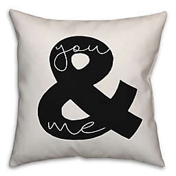 Designs Direct You & Me Square Throw Pillow in Black