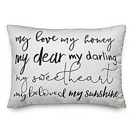 Designs Direct My Sweetheart Oblong Throw Pillow