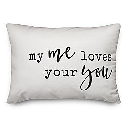 Designs Direct My Me Love Your You Oblong Throw Pillow