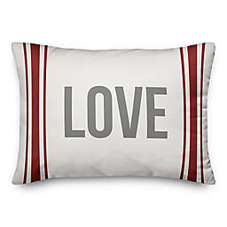 Designs Direct Farmhouse Love Oblong Throw Pillow in Red