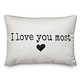 Designs Direct I Love You Most Oblong Throw Pillow in Black