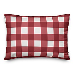Designs Direct Buffalo Check Oblong Throw Pillow in Red