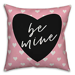 Designs Direct Be Mine Mini Hearts Square Throw Pillow in Pink