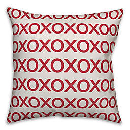 Designs Direct XO Square Throw Pillow in Red