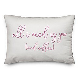 Designs Direct All I Need Oblong Throw Pillow in White