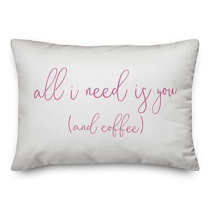 Alternate image 1 for Designs Direct All I Need Oblong Throw Pillow in White