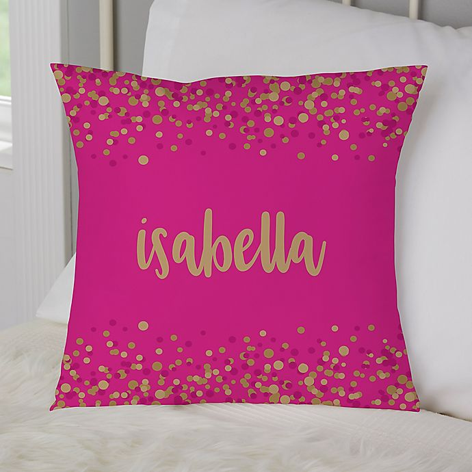 Alternate image 1 for Sparkling Name Personalized Throw Pillow