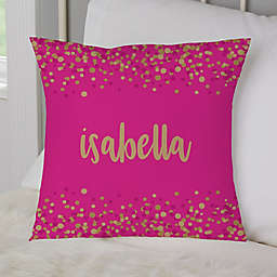 Sparkling Name Personalized Throw Pillow