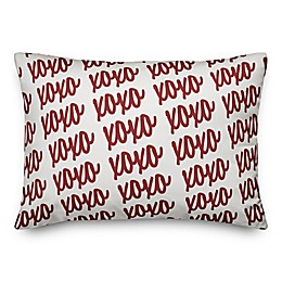 Designs Direct XOXO Script Rectangular Throw Pillow
