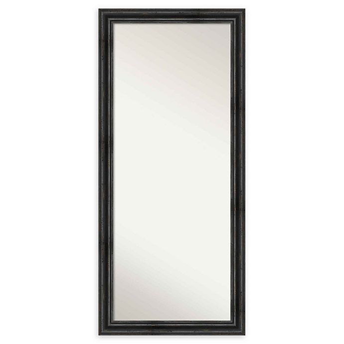 Alternate image 1 for Amanti Art Rustic Black Pine Framed Floor/Leaner Mirror