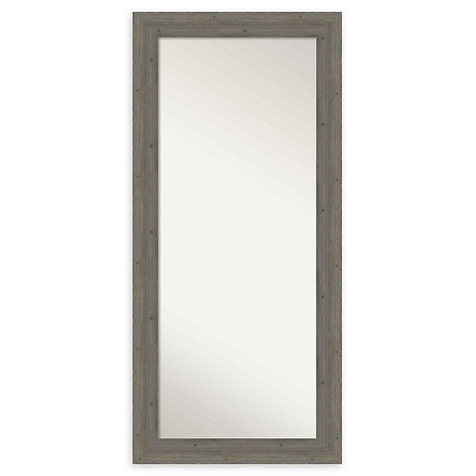 Alternate image 1 for Amanti Art Fencepost Wood Framed Floor/Leaner Mirror