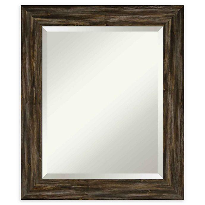 Alternate image 1 for Amanti Art Narrow Fencepost Brown Framed Wall Mirror