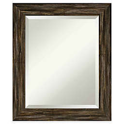 Amanti Art Narrow Fencepost Brown Framed Wall Mirror