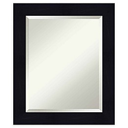 Amanti Art Shiplap Navy Framed Wall Mirror