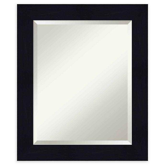 Alternate image 1 for Amanti Art Shiplap Navy Framed Wall Mirror
